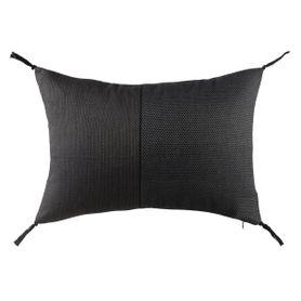 Coussin en coton gris rectangulaire 40 x 60 cm Roma