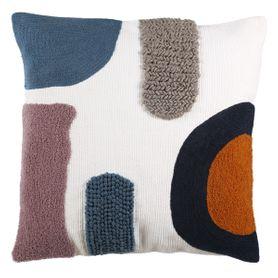 Coussin en coton à motifs colorés 50 x 50 cm Strip