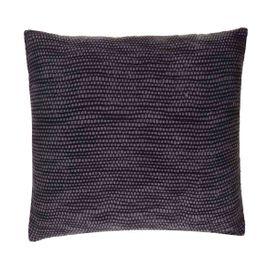 Coussin en coton gris carré 45 x 45 cm Teo
