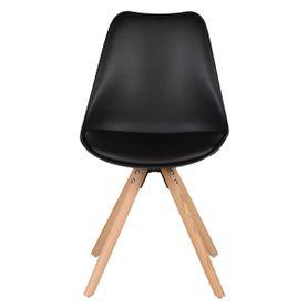 Chaise scandinave à coque piétement chêne