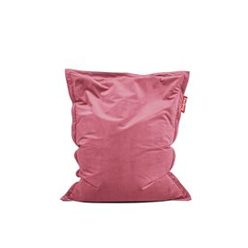 Pouf en velours rose Original slim Fatboy