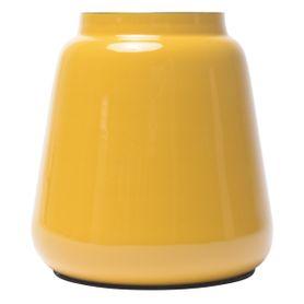 Vase en fer émaillé jaune FYNN