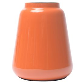 Vase en fer émaillé orange FYNN