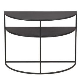 Bout de canapé métal noir en demi cercle Grayson