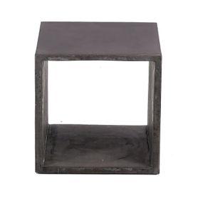 Cube de rangement béton de 40 cm gris foncé Hermitage