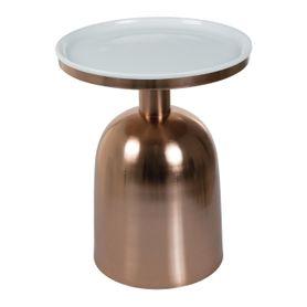 Bout de canapé métal cuivré rond Ikon
