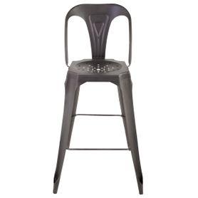 Chaise de bar industrielle en métal vieilli Indus
