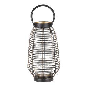 Lanterne en métal noir et dorée 35 cm Joya