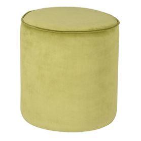 Pouf en velours passepoil vert pomme Klint