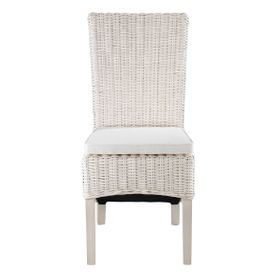 Chaise en demi Kubu blanc (lot de 2)