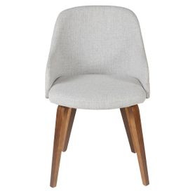 Chaise accoudoirs en tissu gris clair Kyo