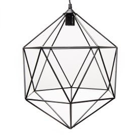 Suspension geometrique metal noir Ruby