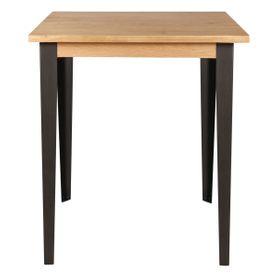 Table de bar carrée chêne et métal 90 x 90 cm Manhattan