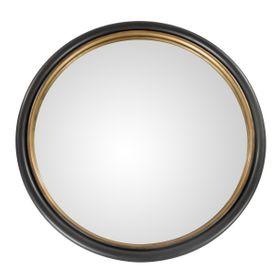 Miroir époxy gris anthracite et doré Ø 50 THOR