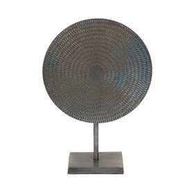 Objet de décoration en aluminium gris Mis