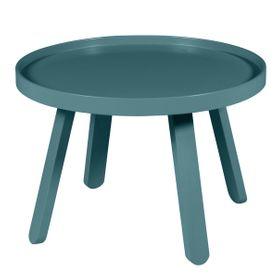 Table basse bleu canard ronde Ø 58 cm Mjuk