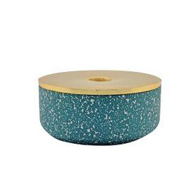 Boite décorative bleu marine et or Box