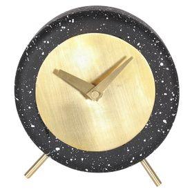 Horloge en béton noir effet terrazzo Clock