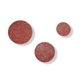 Patère rond en terrazzo rouge brique Muzz (set de 3)