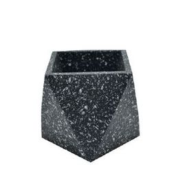 Cache pot hexagonal en terrazzo noir Muzz