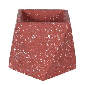 Cache-pot hexagonal en terrazzo rouge brique Muzz