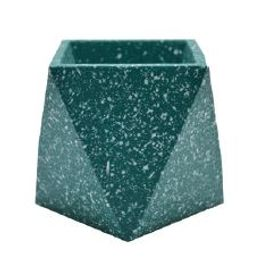 Cache-pot hexagonal en terrazzo vert clair Muzz