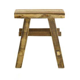 Tabouret bois recyclé 50 cm Noldor