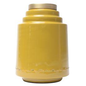 Vase en fer émaillé jaune OLIA