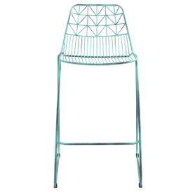 Chaise de bar métal turquoise vieilli Orus