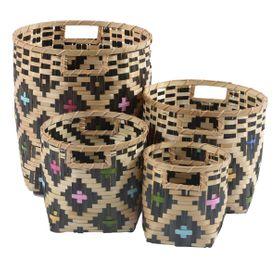 Paniers en bamboo NARA set de 4
