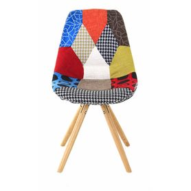 Chaise scandinave multicolore Patchwork (lot de 2)