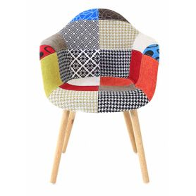 2x Fauteuil design multicolore Patchwork
