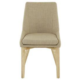 Chaise tissu et bois de frêne Pistille (lot de 2)