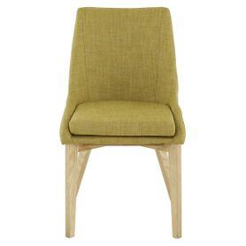 Chaise de repas tissu vert anis Pistille (lot de 2)