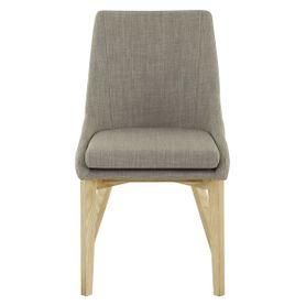 Chaise de repas tissu gris clair Pistille (lot de 2)