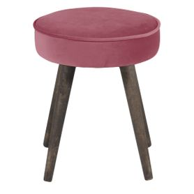 Pouf en velours rose Popy