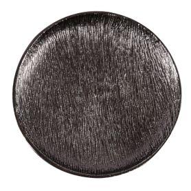 Assiette décorative en métal Ø 29 cm noire M Steel