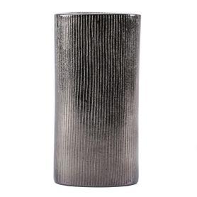 Vase en métal 37 cm noir L Steel