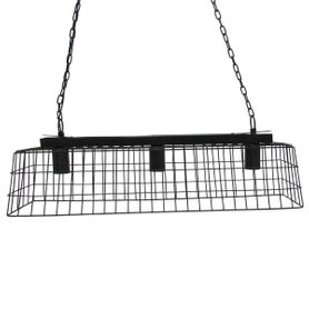 Suspension rectangulaire noire Mesh