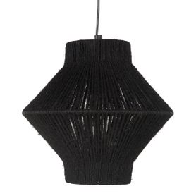 Suspension en corde noire triangulaire ROPE