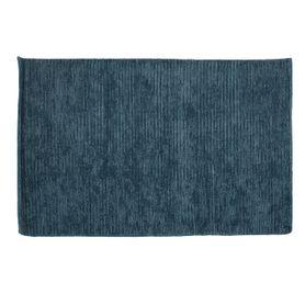 Tapis laine de Nouvelle-Zélande bleu 170 x 120 cm Bori