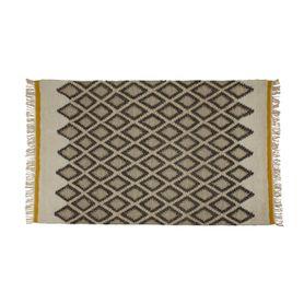 Tapis laine de Nouvelle Zélande écru/gris 170 x 120 cm Sina