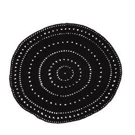 Tapis coton noir Ø120 cm Umaa