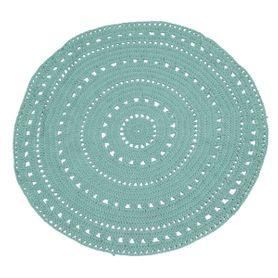 Tapis coton bleu clair Ø120 cm Umaa