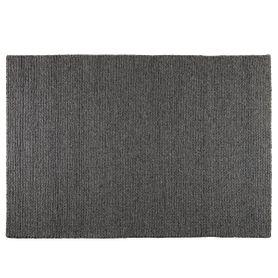 Tapis blanc et noir en laine 160 cm Wooli