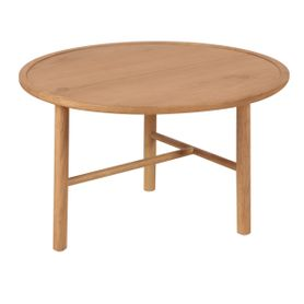 Table basse style naturel en chêne Ø 70 cm Contempo