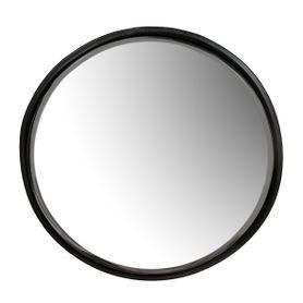 Miroir rond Ø60 cm noir en métal Woody