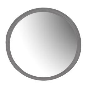 Miroir rond Ø85 cm gris en métal Woody