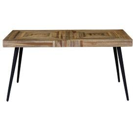 Table rectangulaire 150 x 80 cm en teck et métal Woody