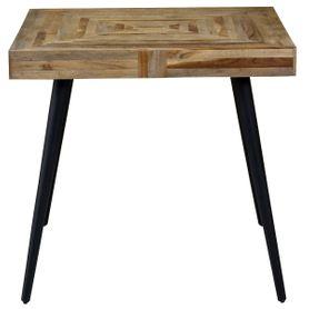 Table carrée 80 x 80 cm en teck et métal Woody